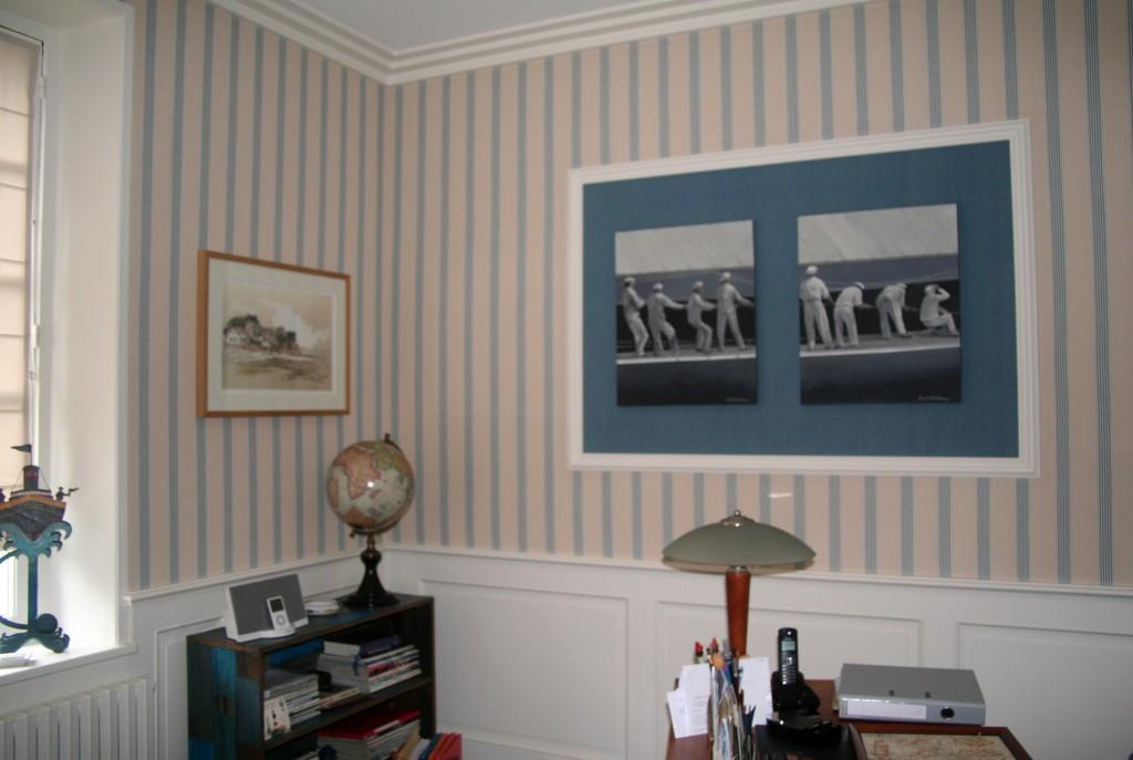 Corniches et soubassements la maison de b n dicte for Peinture de decoration interieure