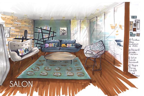 Projet d co la maison de b n dicte d coration int rieure conseils projets de d coration - Conseils sur la disposition des meubles pour agrandir un salon ...