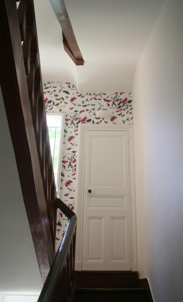 Papier peint ou peinture la maison de b n dicte d coration int rieure conseils projets de - Peinture de decoration interieure ...